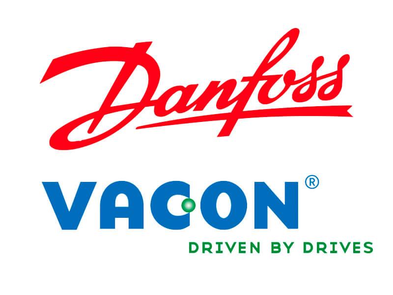 Danfos and Vacon logos