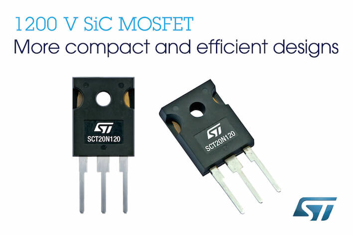 SiC Silicon carbide ST microelectronics MOSFET 1200V device power electronics semiconductor