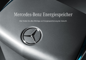 Mercedes Benz picture announcing the home battery.