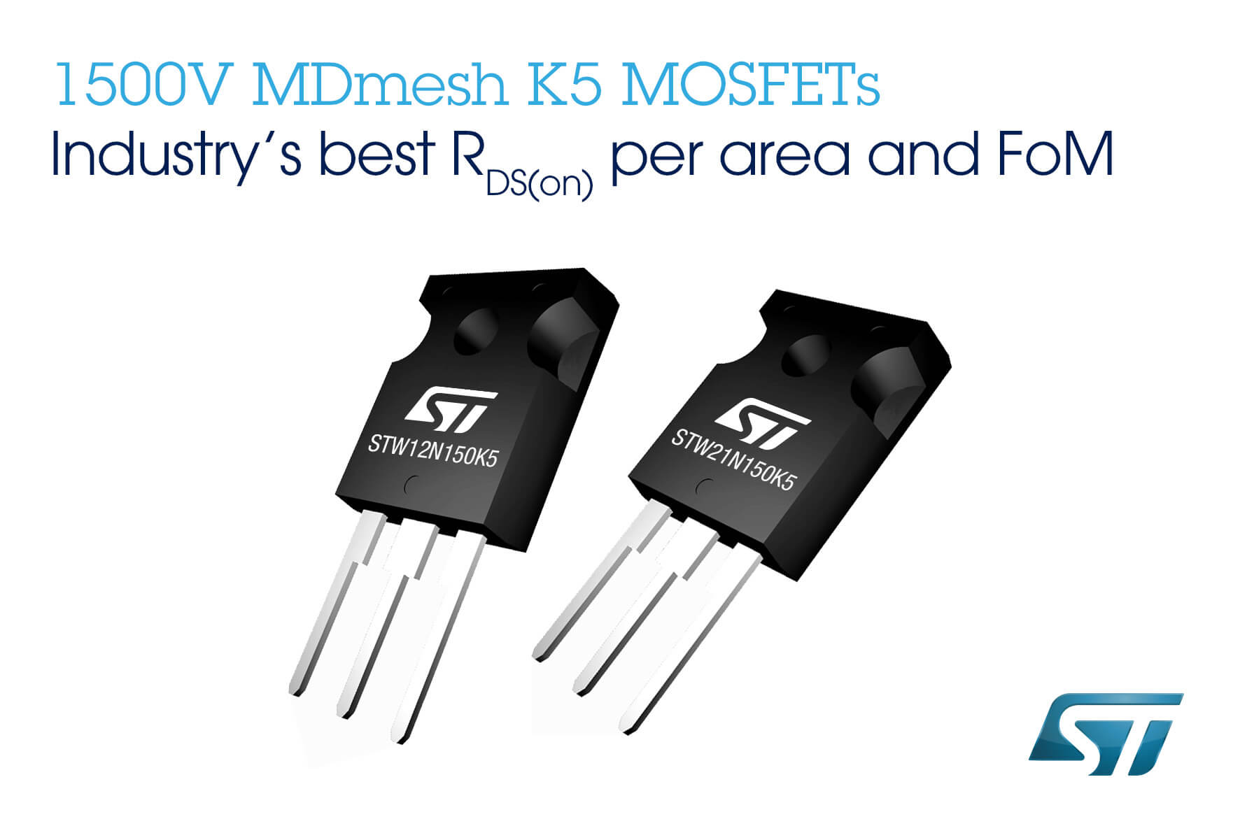 1500V super junction mosfet MDmesh Coolmos ST microelectronics