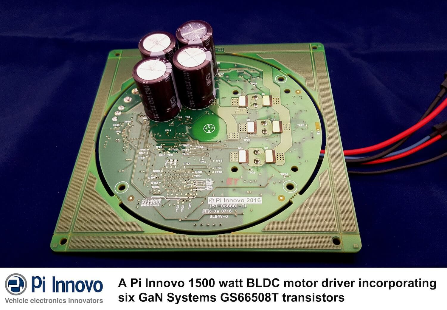 PI Innovo GaN Systems motor drive for electric vehicle