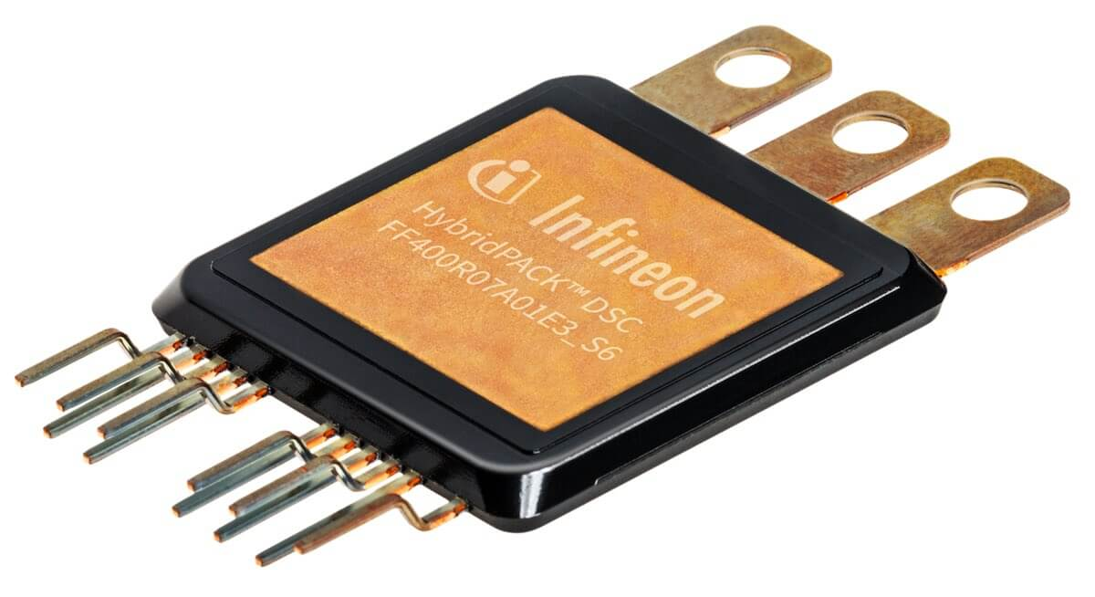 Infineon hybrid vehicle power module double side cooling