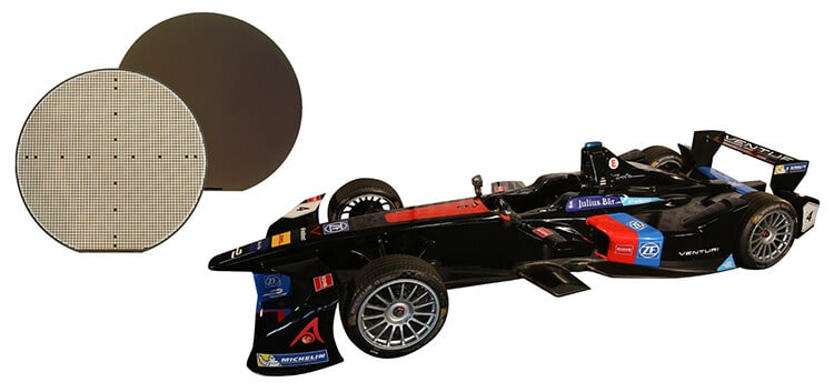 SiC silicon carbide Rohm power electronics formula E electric car