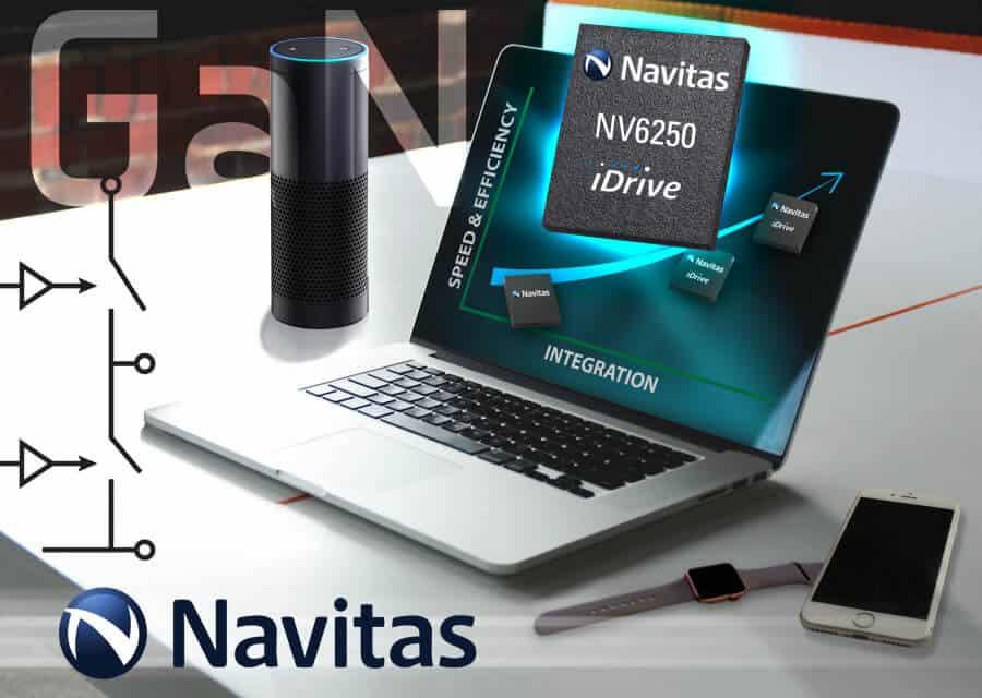GaN transistor Navitas half-bridge IC