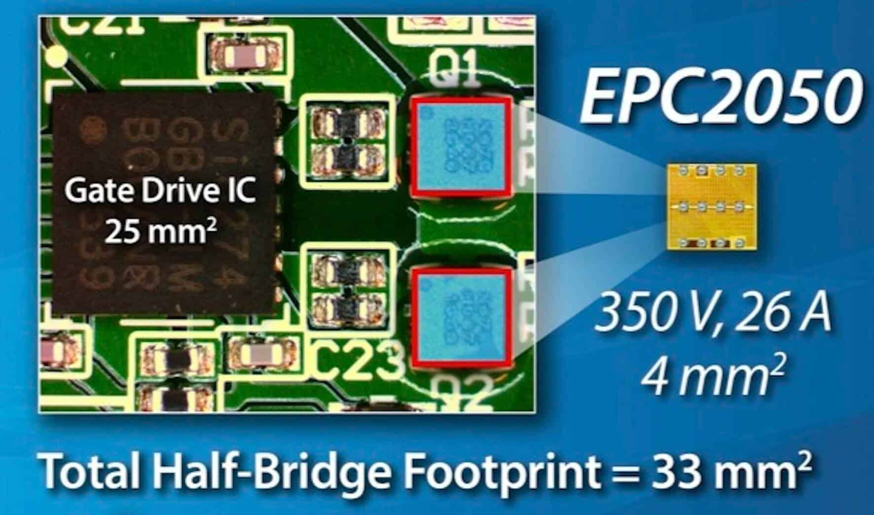 EPC2050 350V GaN device transistor half bridge
